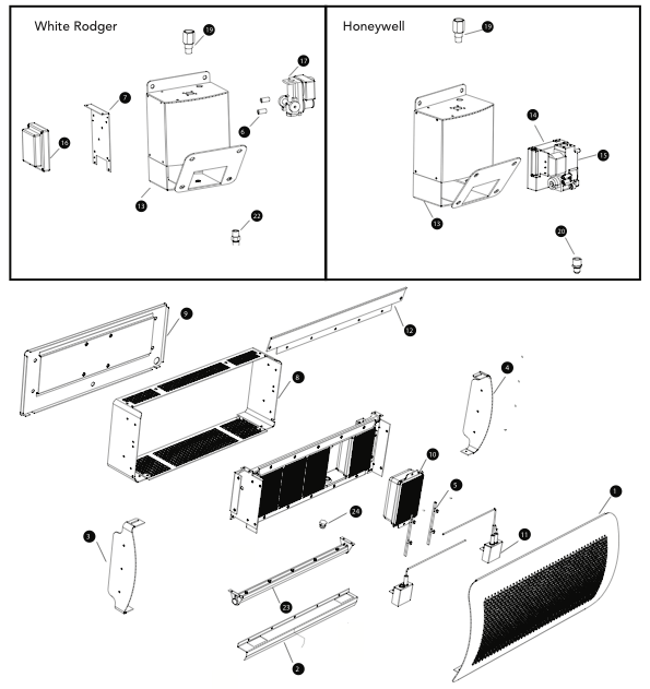 parts for gas logs