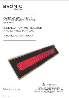 Platinum Smart Heat Electric SII Instruction Manual