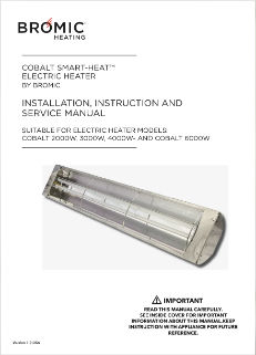 Cobalt Smart Heat Electric Instruction Manual