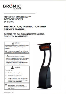 Tungsten Smart Heat Portable Instruction Manual