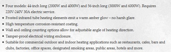 Bromic Tungsten Electric Heaters