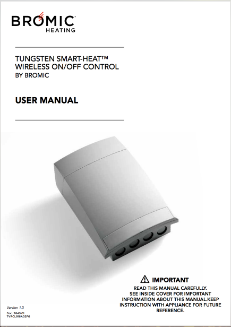 Tungsten Smart Heat Wireless Remote Control Manual