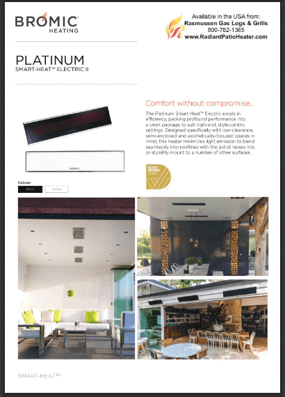 Platinum Electric Radiant Heater Product Brief