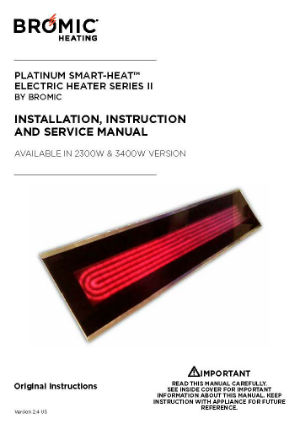 Installation Manuals Radiant Patio Heater